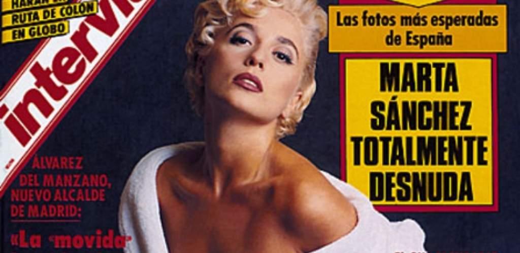 Marta Sánchez cobró 15 millones de pesetas en negro por su posado de Interviú