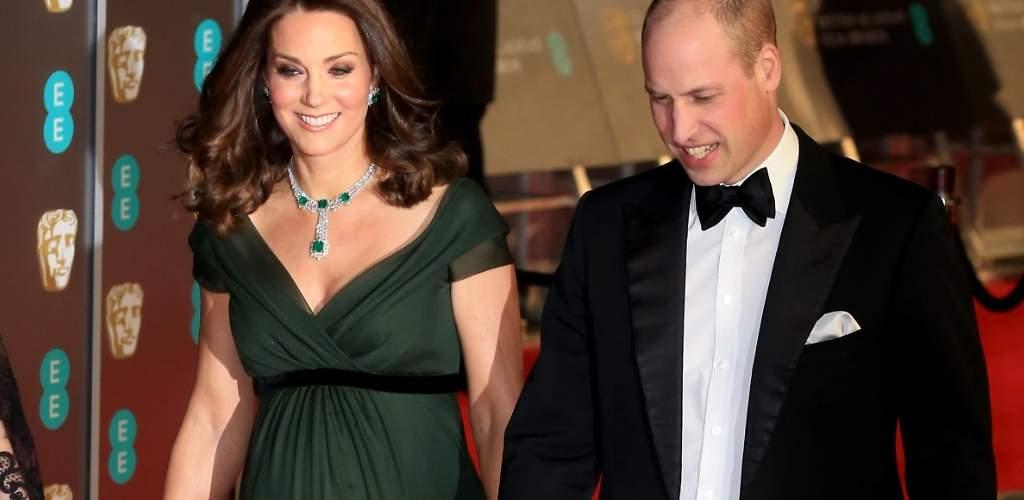 Kate pasa del negro reivindicativo y luce escote verde en los Bafta