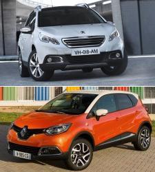 Peugeot 2008 y Renault Captur: coches con forma de SUV