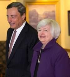 Draghi y Yellen lucharán por una moneda débil en Jackson Hole
