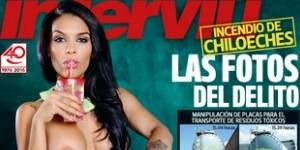 La gogó Omaima Bouknane, desnuda en la portada de Interviú