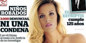 Sandra Ferrari, de Adán y Eva, desnuda en la portada de Interviú