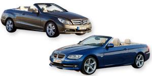 BMW 335i cabrio o Clase E 350 CDI: ¿surf o velero?