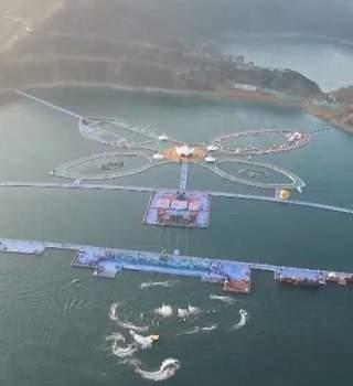 La plataforma flotante de China