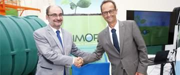 Javier Lambán destaca el ejemplo de compromiso con el territorio de la empresa monegrina Simop