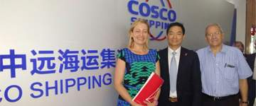 El grupo chino Cosco considera Aragón un destino de interés para sus inversiones en logística integral