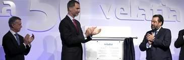 El Rey preside el 50 aniversario del grupo Velatia en Amorebieta
