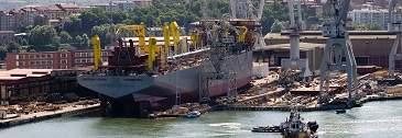 La contratación de buques en los astilleros españoles cae un 58%