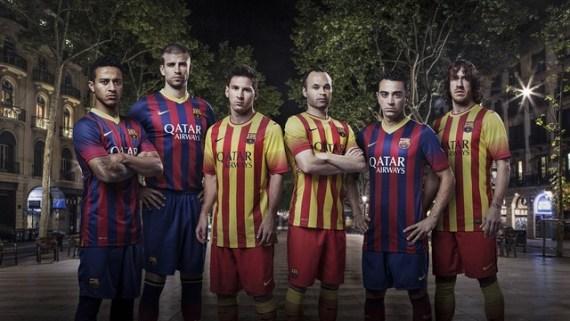 56d66d6bc04f3 Los jugadores con la camiseta del Barça