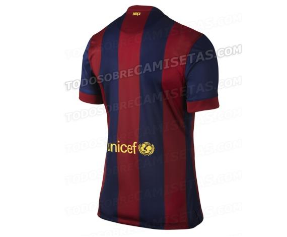 Con franjas mucho más gruesas y ausencias de tonos amarillos. La nueva  camiseta del Barça ... acde4be2fd4d7