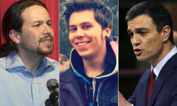 Pedro Sánchez y Pablo Iglesias se pelean en las redes por El Rubius