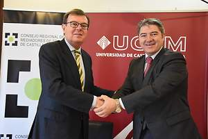 UCLM y el Consejo de Mediadores de Seguros firman un convenio de cooperación interuniversitaria