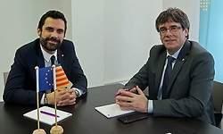Puigdemont y ERC discrepan sobre el objetivo del Govern