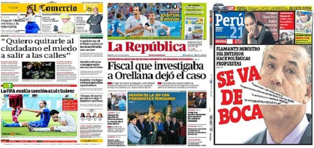 Revista de prensa de per nuevo ministro del interior for Nuevo ministro del interior peru