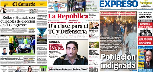 Revista de prensa de per hoy d a clave para nuevos for Noticias del espectaculo del dia de hoy