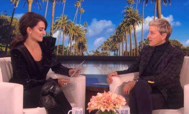 NBC censura a Penélope Cruz en su visita a Ellen DeGeneres