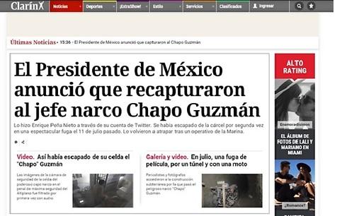 Galería| 'El Chapo' Guzmán atrapa la mirada de la prensa