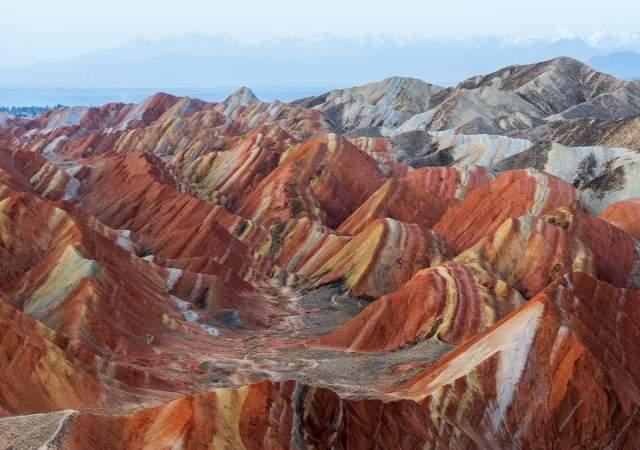 Las montañas arcoíris de China