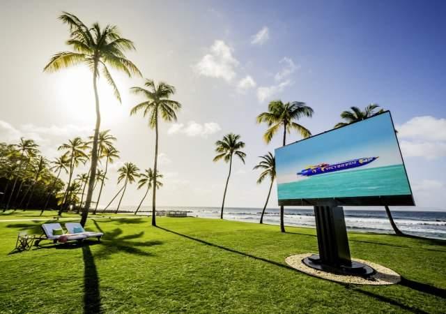 El televisor exterior más grande