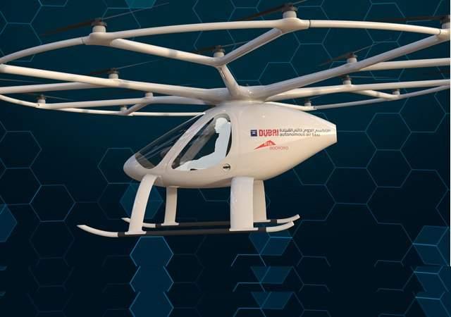 El volcopter, a prueba en Dubai