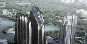 Chaoyang Park: unas lujosas montañas de vidrio
