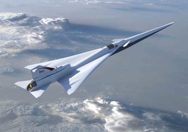 El avión supersónico de la Nasa