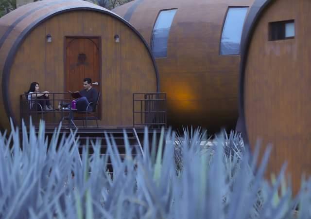 Un hotel de barricas de tequila