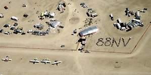 Black Rock City, un aeropuerto efímero en el desierto