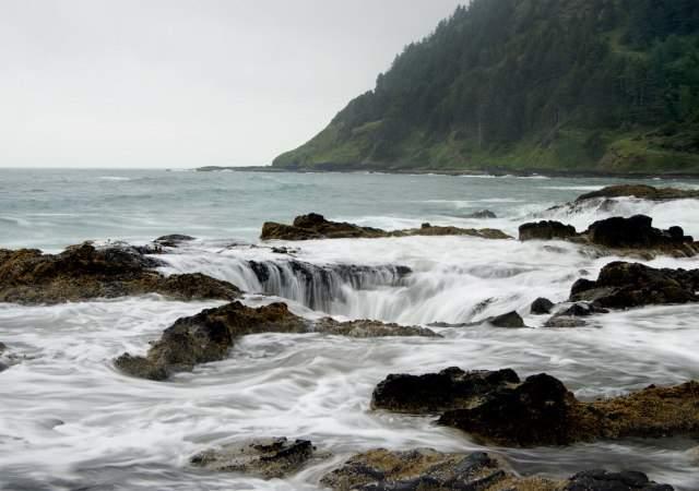 El lugar donde drena el Pacífico
