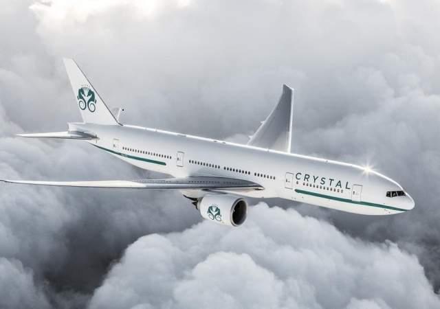 Los aviones de Crystal Cruises