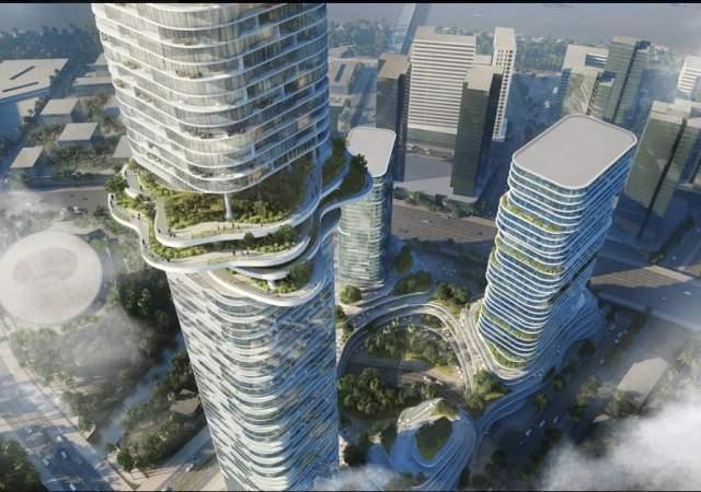 Una selva en el cielo de la ciudad