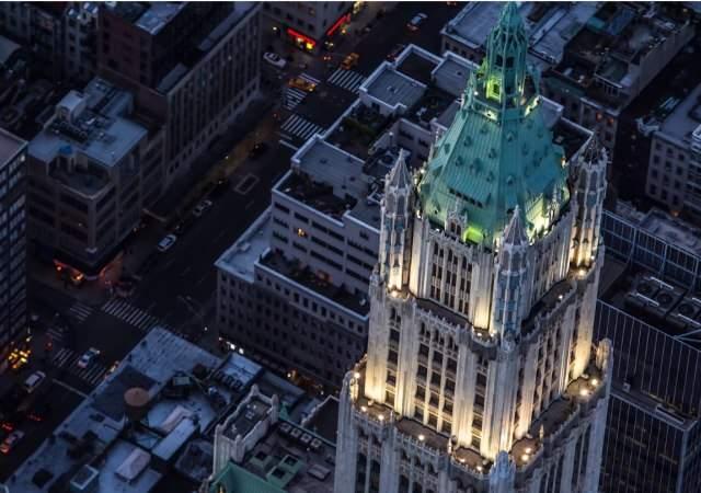 El castillo en el cielo de Manhattan