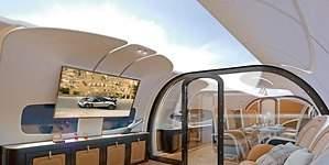 Un avión con una pantalla gigante en el techo: así es la nueva propuesta de Airbus