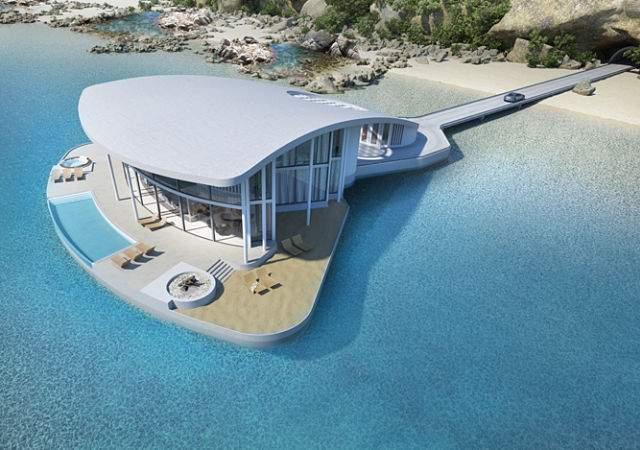 Una mansión flotante de pez raya
