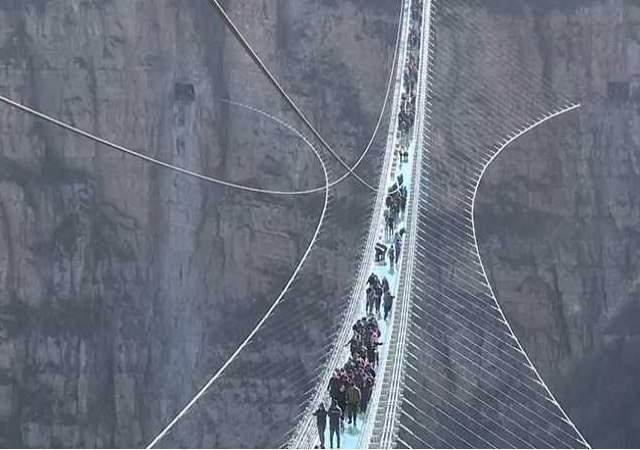Así es el puente de cristal más largo
