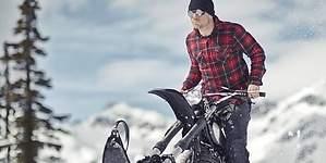 Una moto de nieve auténtica (nada de trineos con motor)