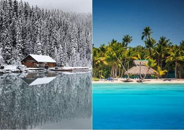 Navidad, ¿prefiere playa o nieve?