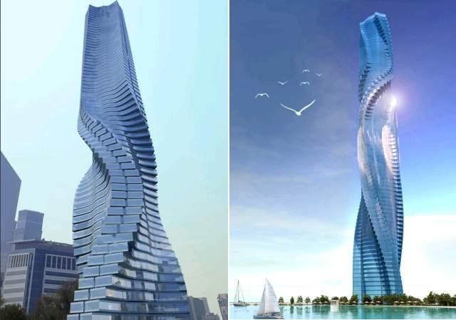 La primera torre giratoria, en Dubái