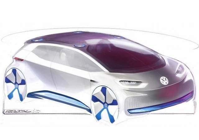 Volkswagen muestra el diseño de su eléctrico para París