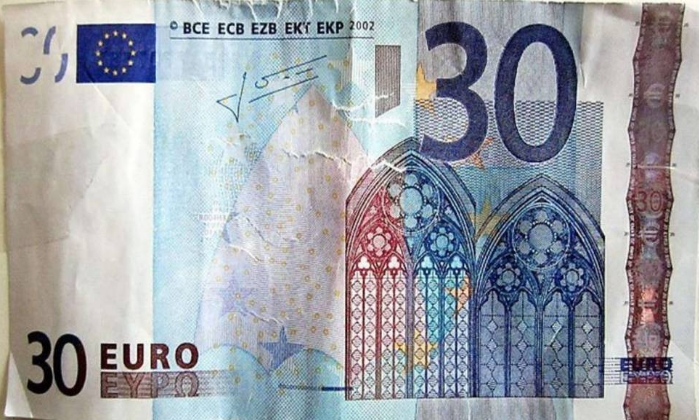 Billete falso de 30 Euros
