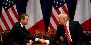Macron se reúne con su amigo Trump entre profundos desacuerdos