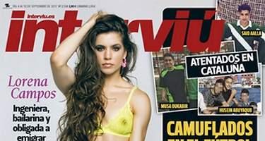 Lorena Campos se desnuda en Interviú
