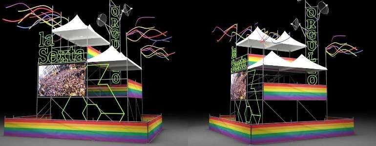 World Pride: así será el espectacular set de La Sexta para Iñaki López y Cristina Pardo