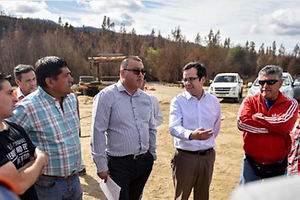 Gobierno asegura rápida respuesta a las empresas afectadas por incendios