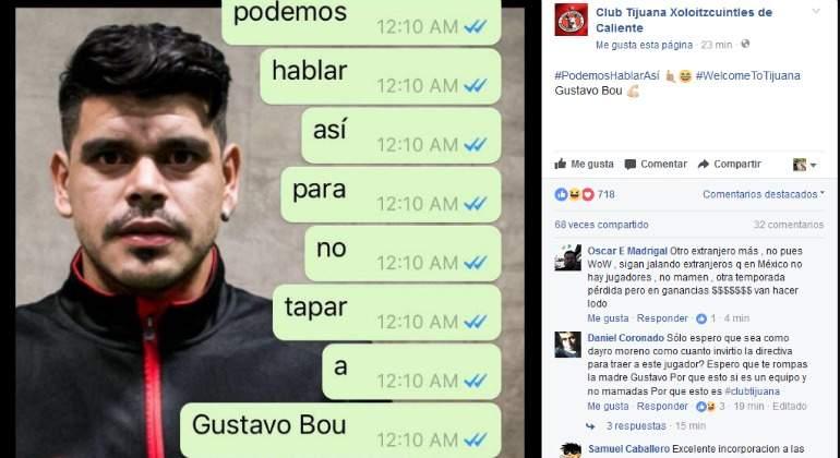 Xolos confirma a Gustavo Bou como nuevo refuerzo para Apertura 2017 — OFICIAL