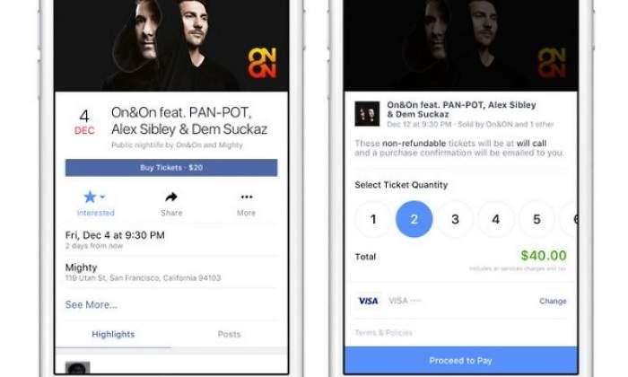 facebook prueba la venta de entradas para eventos desde su