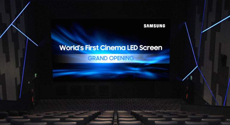 Samsung unveiled the first LED screen of world cinema