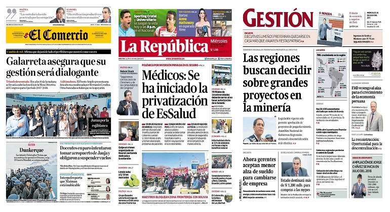 PERÚ: Luis Galarreta: Congreso mantendrá relación democrática y cordial con Ejecutivo (avance)