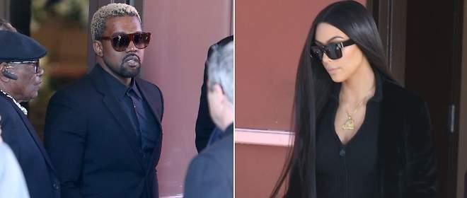 Kim Kardashian y Kanye, destrozados en el funeral de su sobrino