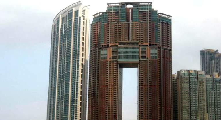 Los huecos en los edificios chinos